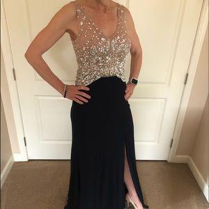 Floor length evening dress
